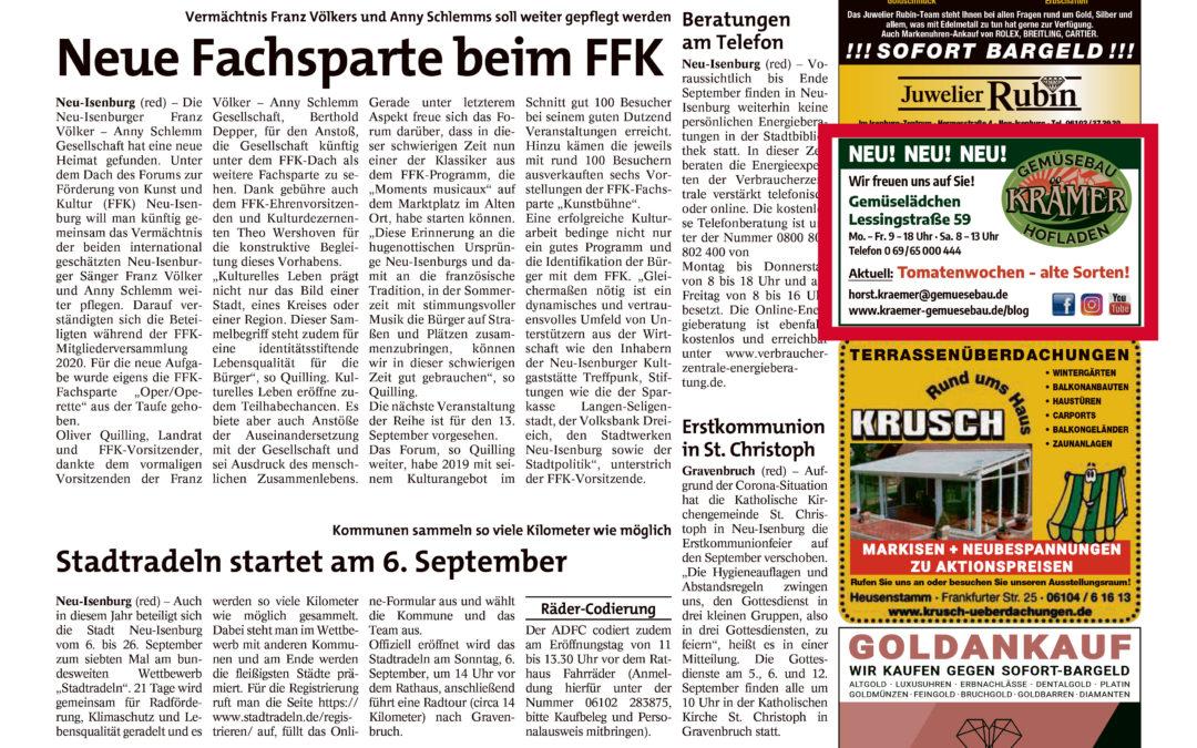 Stadtpost Neu-Isenburg, 03.09.2020